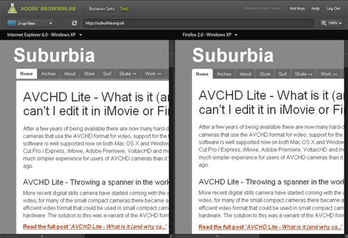 Image of 2-up View in BrowserLab