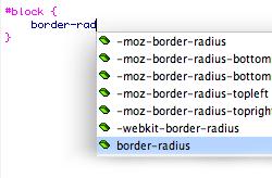CSS3 Code hints