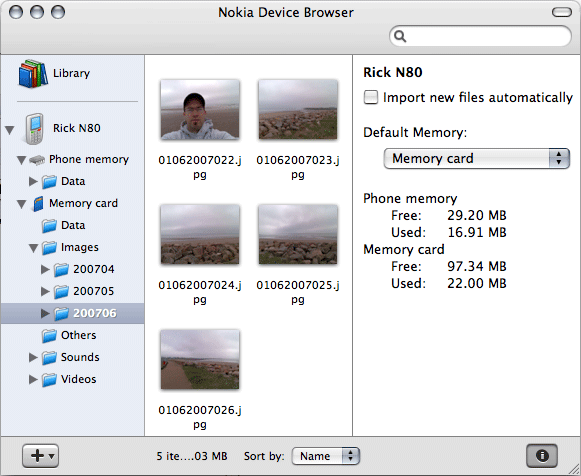 Picture of Nokia Device Browser