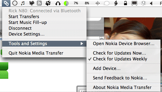Expanded menubar options