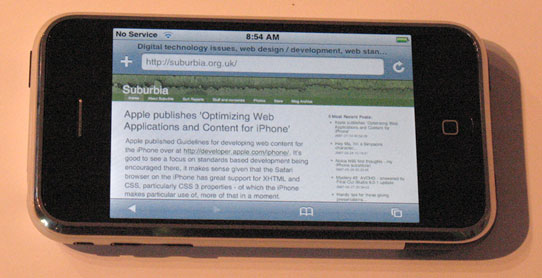 Suburbia.org.uk on the iPhone!